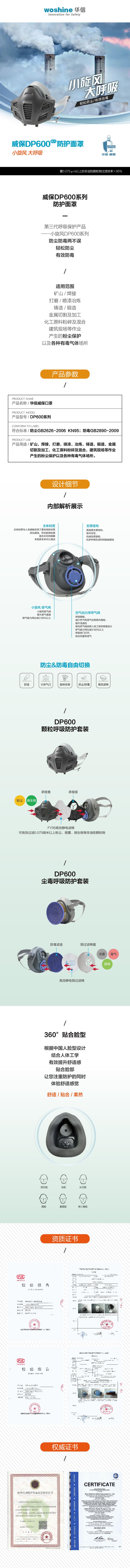 DP600呼吸半面罩