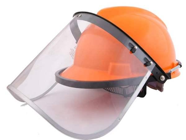 配帽型防护面罩面屏