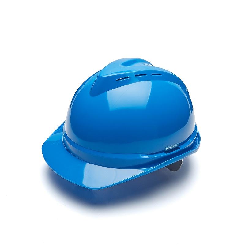 蓝色安全帽