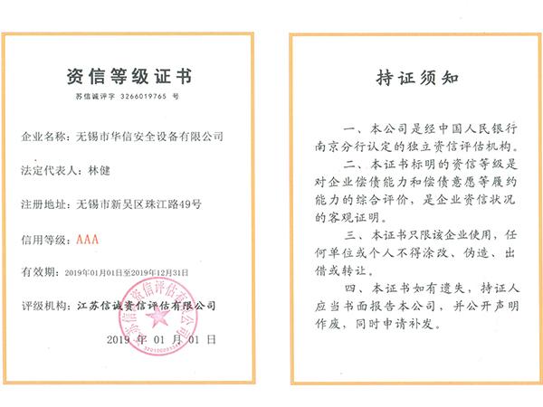 华信安全-资信等级证书
