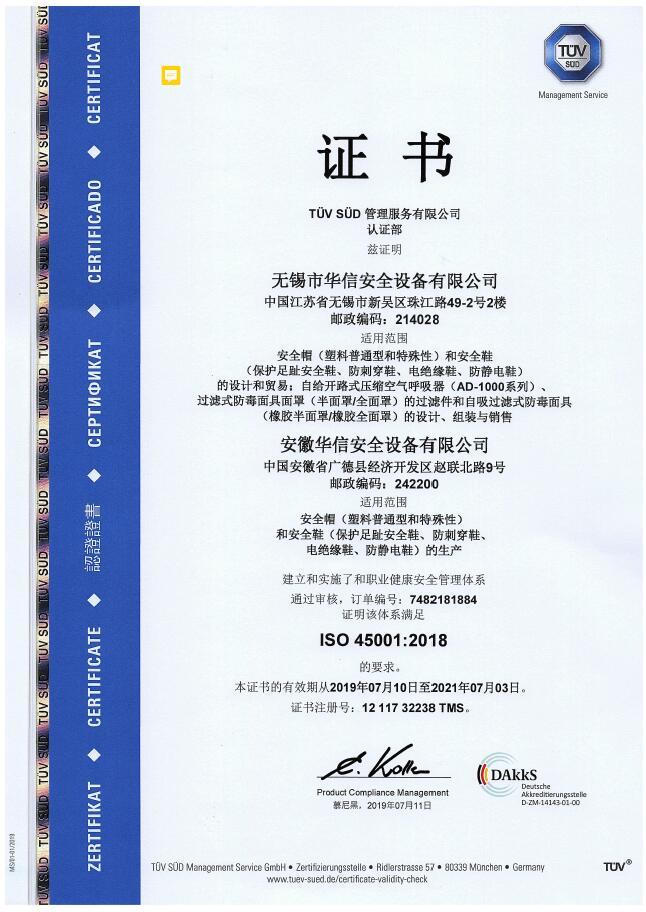 TUV--- ISO 45001:2018(原ISO 18000)